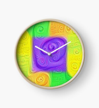 DeepDream Color Squares Visual Areas 5x5K v11 Clock