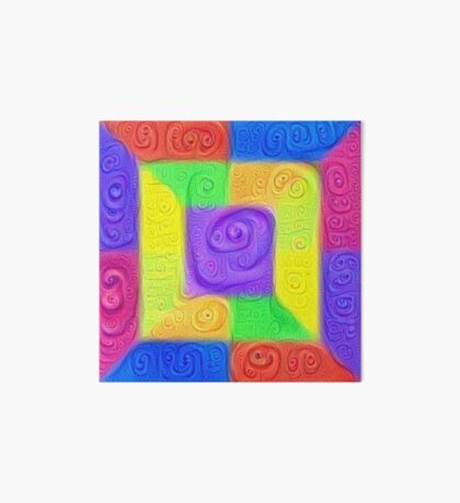 DeepDream Color Squares Visual Areas 5x5K v11 Art Board Print