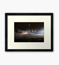 Geothermal Painted with Light Framed Print