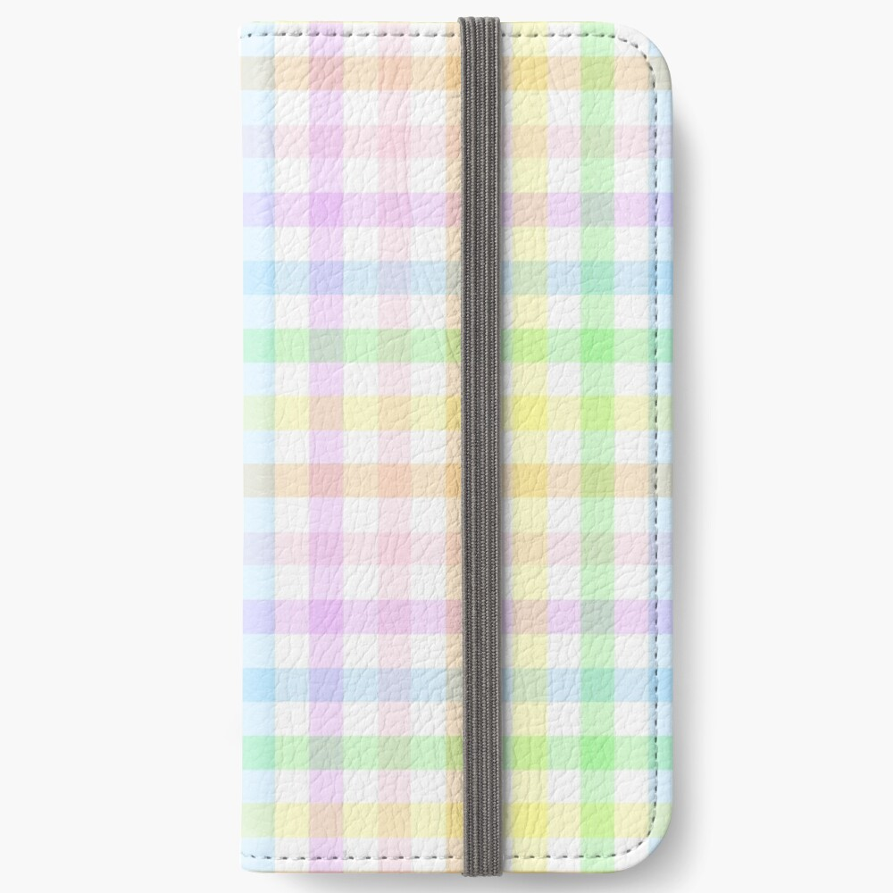 Rainbow Gingham iPhone Wallet
