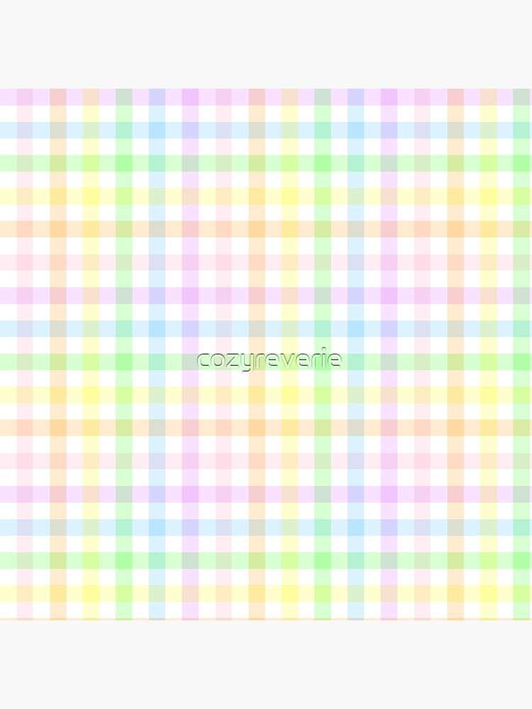 Rainbow Gingham by cozyreverie