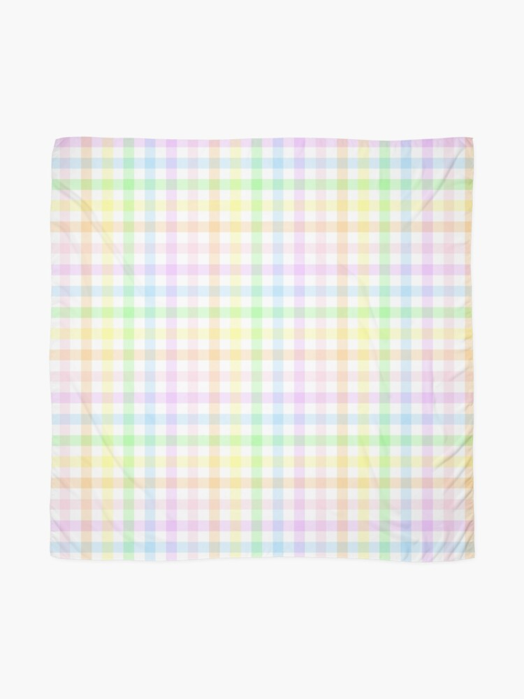 Alternate view of Rainbow Gingham Scarf