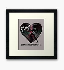 Guitarist - Player from The Heart Framed Print