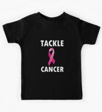 Football Breast Cancer T-Shirt Kids Tee