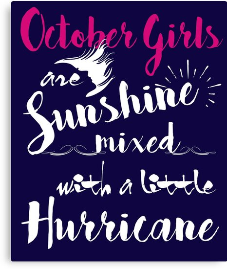 October Birthday Funny Gifts For Girls