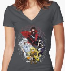RWBY Flowers Women's Fitted V-Neck T-Shirt