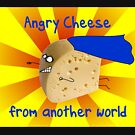 Angry Cheese from another world by firstdog