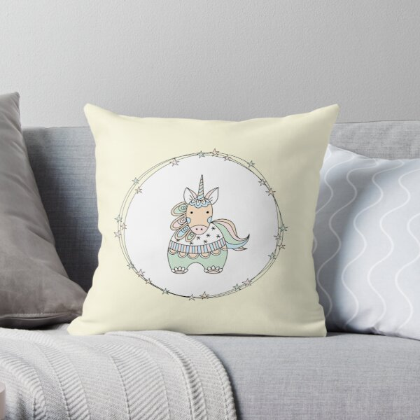 Gelati Unicorn Throw Pillow
