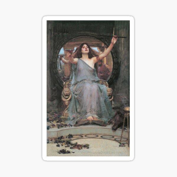 Vintage John William Waterhouse - Circe Offering The Cup To Odysseus 1891 Fine Art Sticker
