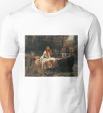 Vintage John William Waterhouse - Lady of Shalott 1888 Fine Art Unisex T-Shirt