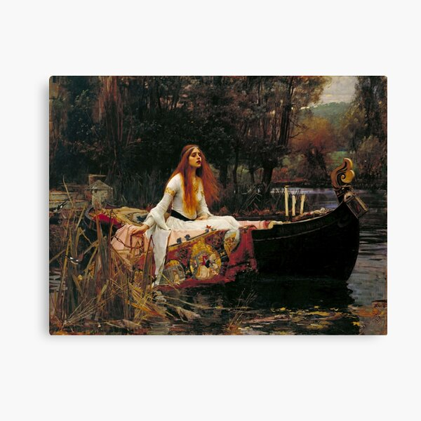 Vintage John William Waterhouse - Lady of Shalott 1888 Fine Art Canvas Print