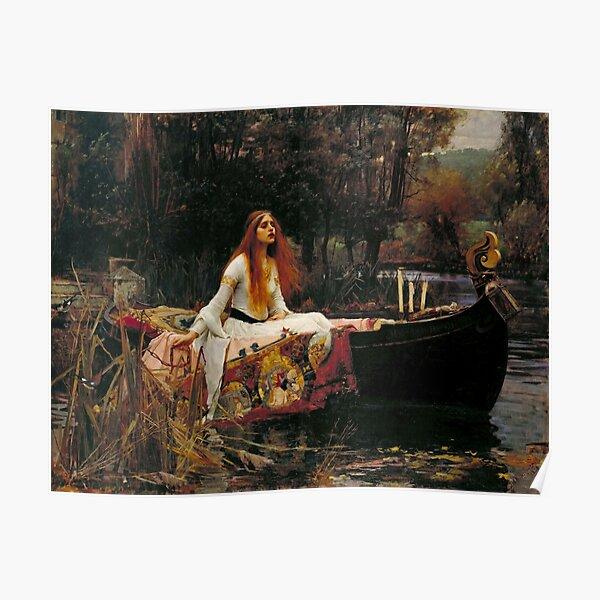 Vintage John William Waterhouse - Lady of Shalott 1888 Fine Art Poster