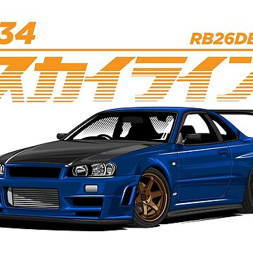 Skyline R34 by hafisdesign