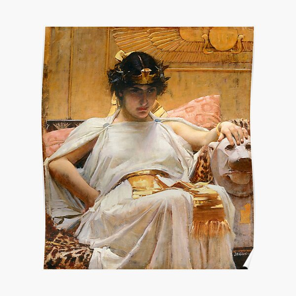 Vintage John William Waterhouse -  Cleopatra 1888 Fine Art Poster