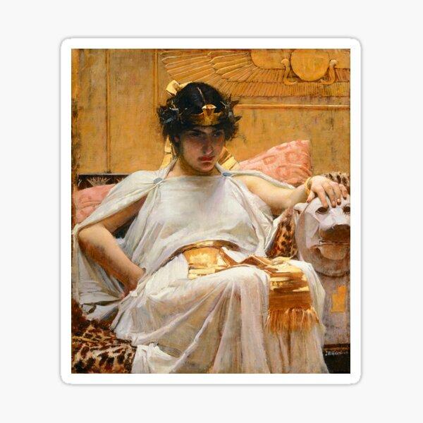Vintage John William Waterhouse -  Cleopatra 1888 Fine Art Sticker