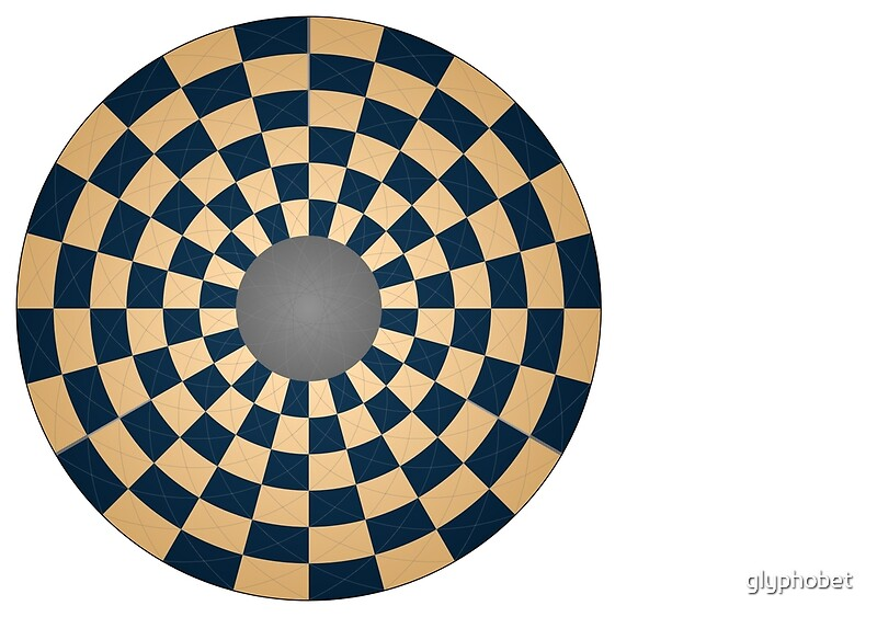 Circular Three Player Chess Board Posters By Glyphobet