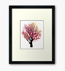 Stylized Autumn Tree 4 Framed Print