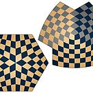 Spherical and Hyperbolic Three Player Chess Boards by glyphobet