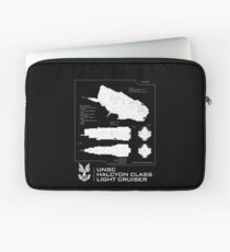 Halo - UNSC Halcyon Class Cruiser Profile  Laptop Sleeve