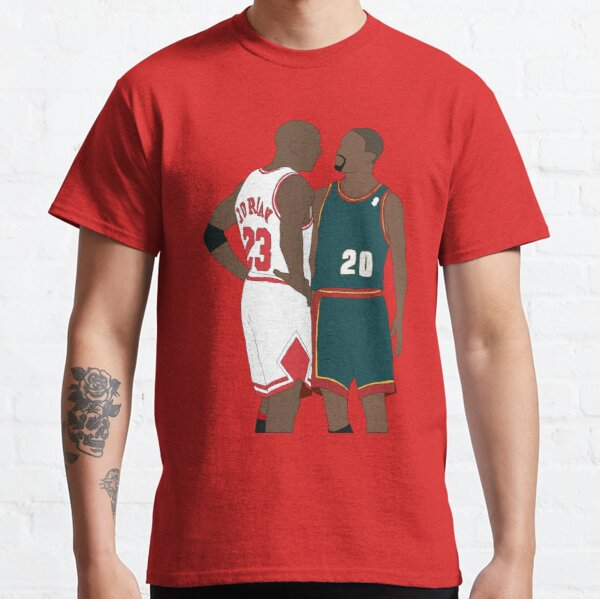 Gary Payton And Michael Jordan Classic T-Shirt