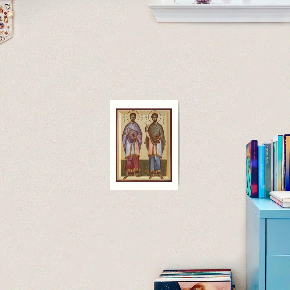 Sts Cosmas and Damian Art Print