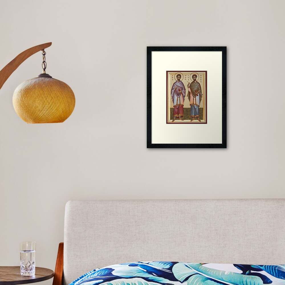 Sts Cosmas and Damian Framed Art Print