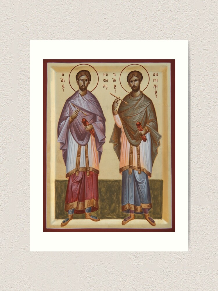 Alternate view of Sts Cosmas and Damian Art Print