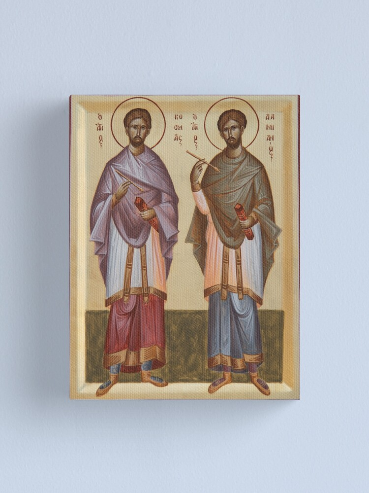Alternate view of Sts Cosmas and Damian Canvas Print