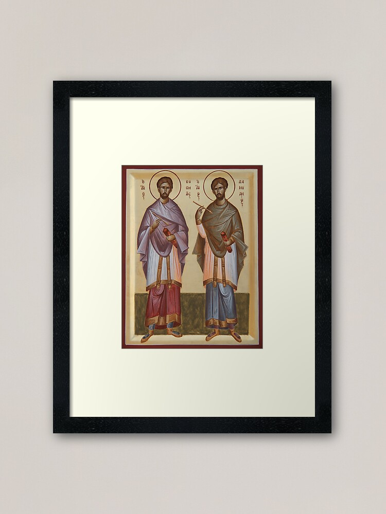 Alternate view of Sts Cosmas and Damian Framed Art Print
