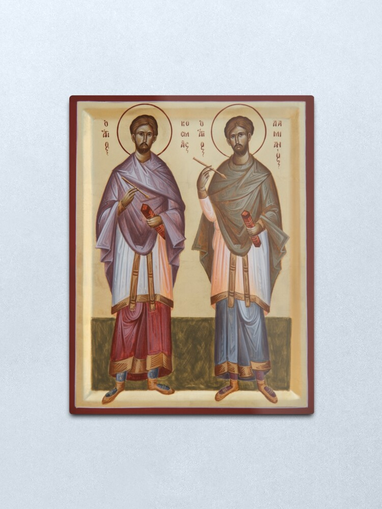 Alternate view of Sts Cosmas and Damian Metal Print
