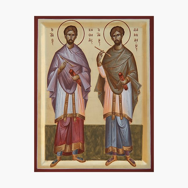 Sts Cosmas and Damian Photographic Print