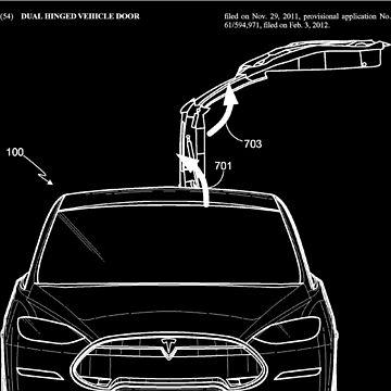 Tesla Model X Door Patent Art - Elon Musk by elonscloset