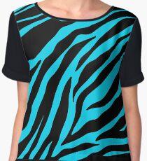 Zebra Pattern (blue) Chiffon Top