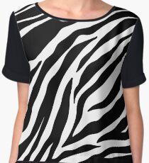 Zebra Pattern Chiffon Top