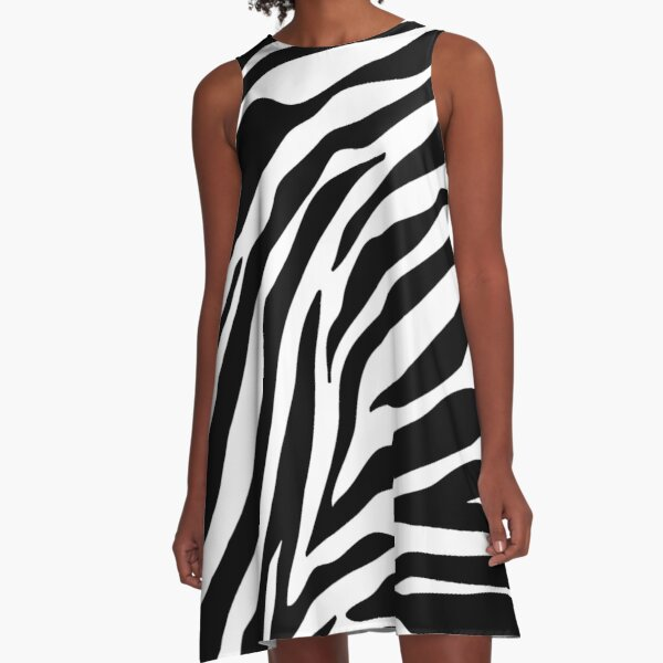 Zebra Pattern A-Line Dress