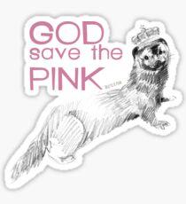 God Save The Pink! Pegatina