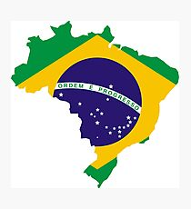 Brazil Continent Flag Photographic Print