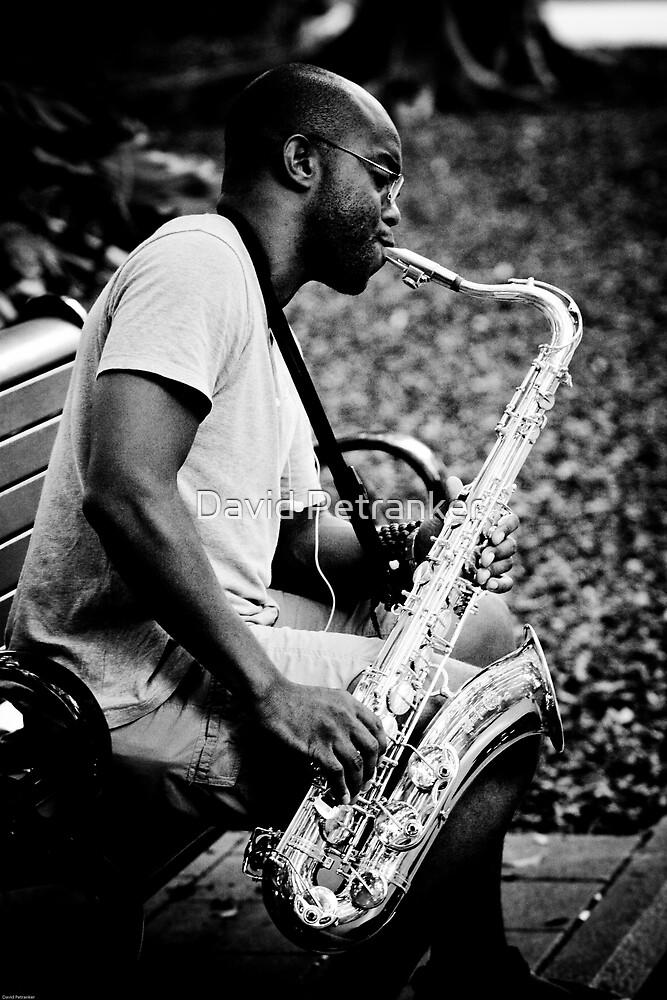 Saxy Sax Player by David Petranker