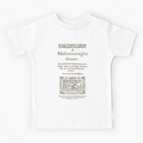 Shakespeare, A midsummer night's dream 1600 Camiseta para niños