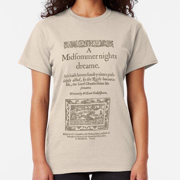 Shakespeare, A midsummer night's dream 1600 Camiseta clásica