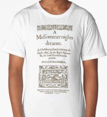 Shakespeare, A midsummer night's dream 1600 Long T-Shirt