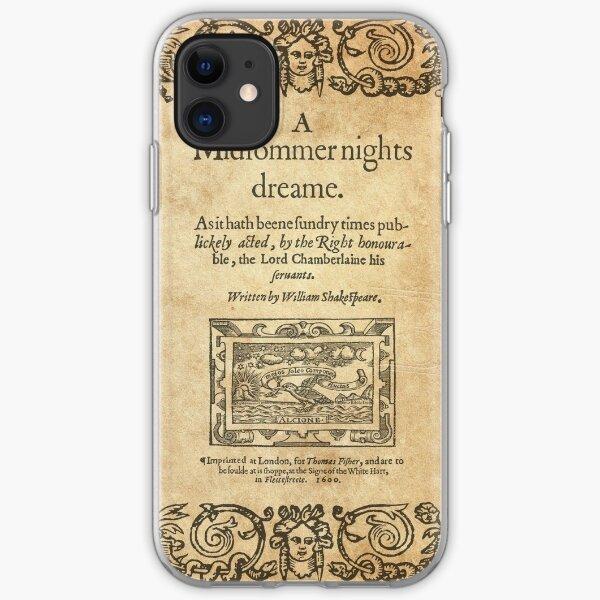 Shakespeare, A midsummer night's dream 1600 Funda blanda para iPhone