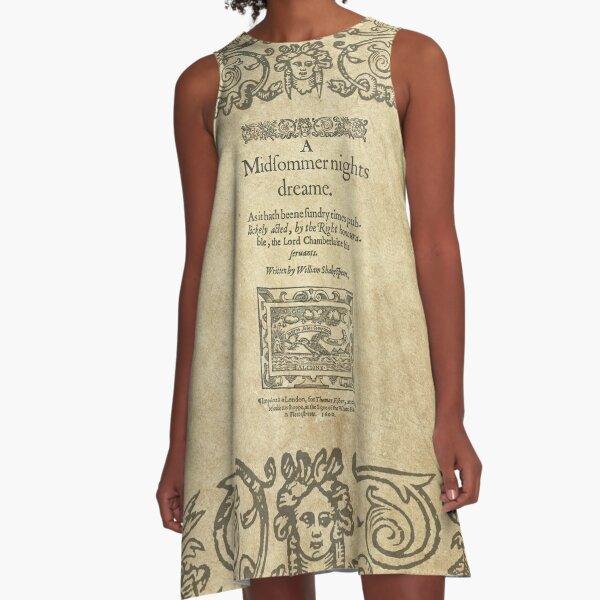 Shakespeare, A midsummer night's dream 1600 Vestido acampanado