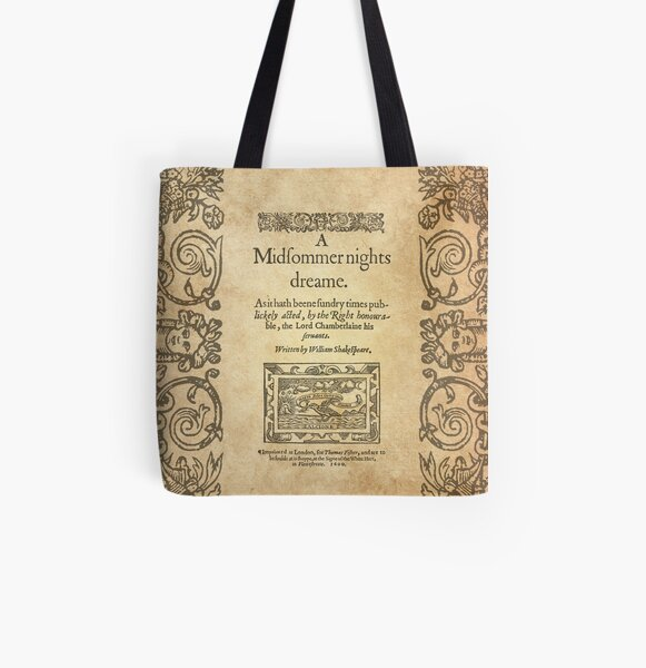 Shakespeare, A midsummer night's dream 1600 All Over Print Tote Bag