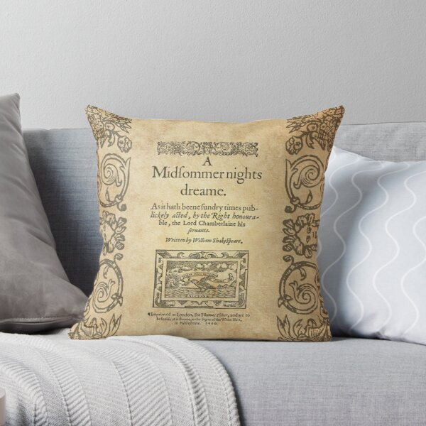 Shakespeare, A midsummer night's dream 1600 Cojín