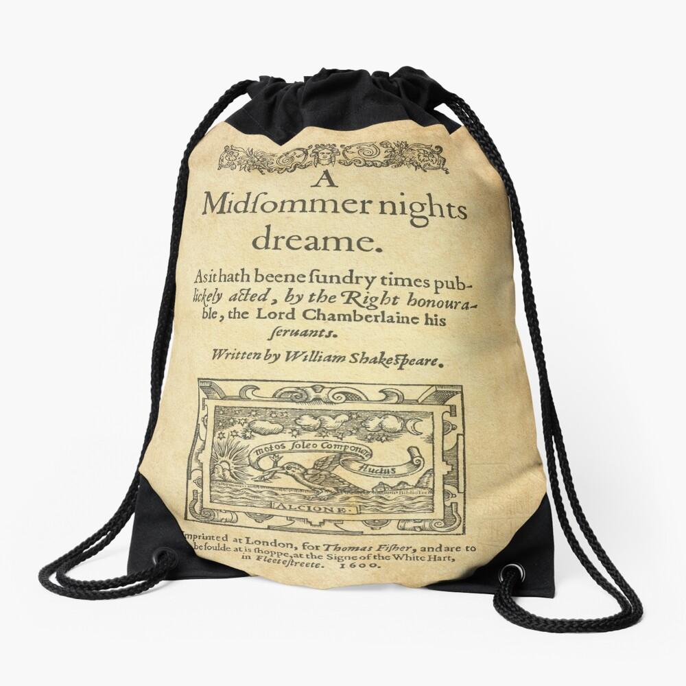 Shakespeare, A midsummer night's dream 1600 Drawstring Bag