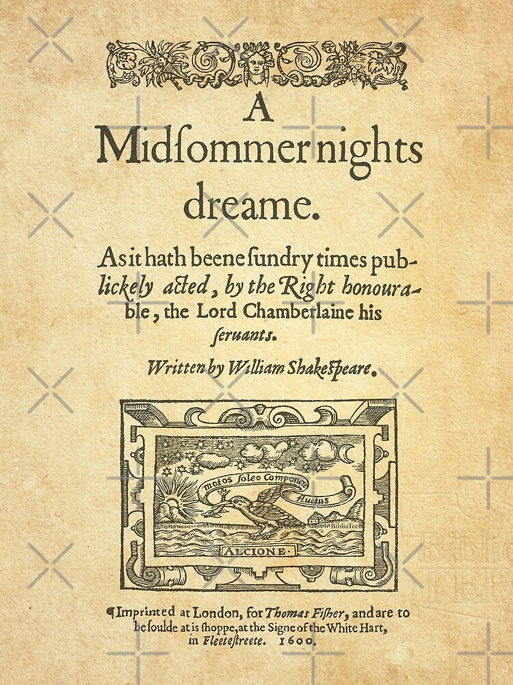 Shakespeare, A midsummer night's dream 1600 by bibliotee