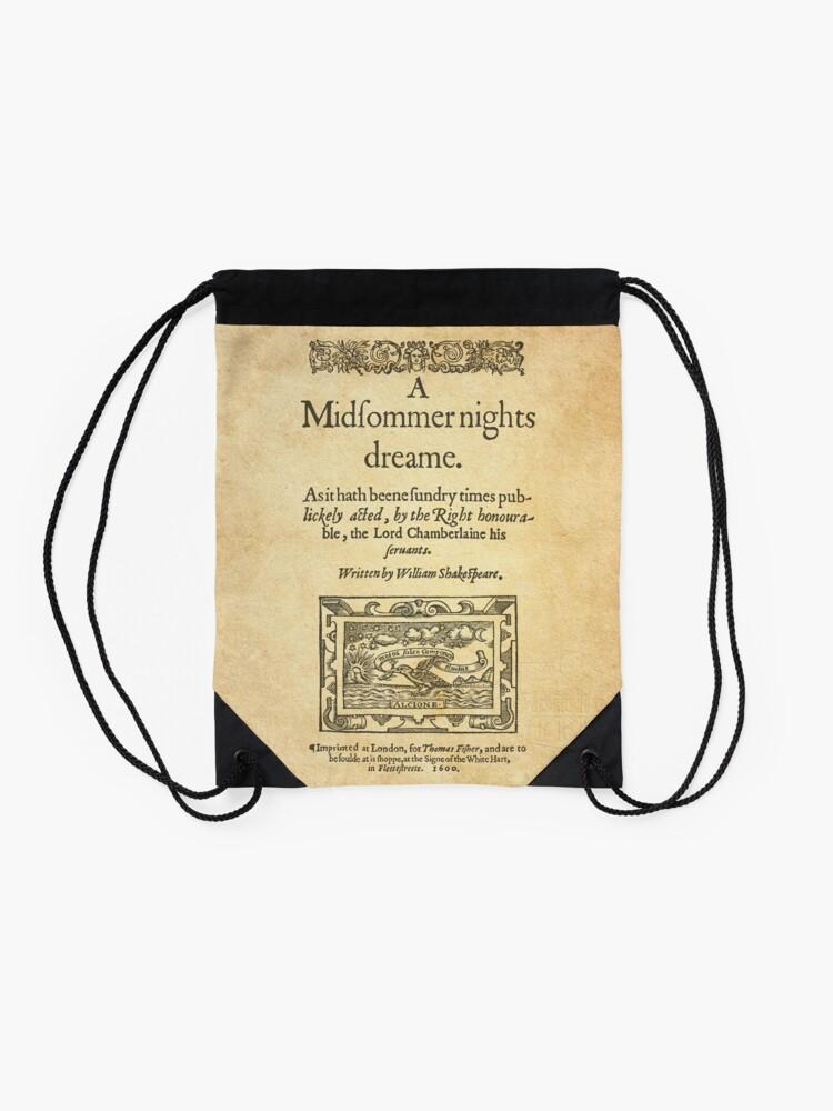 Alternate view of Shakespeare, A midsummer night's dream 1600 Drawstring Bag