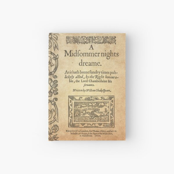 Shakespeare, A midsummer night's dream 1600 Cuaderno de tapa dura