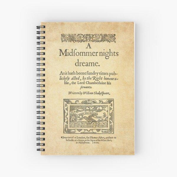 Shakespeare, A midsummer night's dream 1600 Cuaderno de espiral